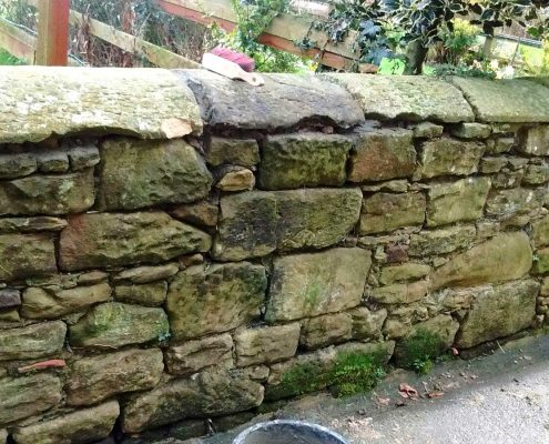 Stone Wall Building